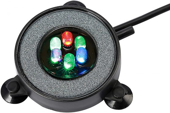NICREW Multi-Colored LED Air Stone Disk