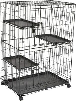 Amazon Basics Large 3-Tier Cage Playpen