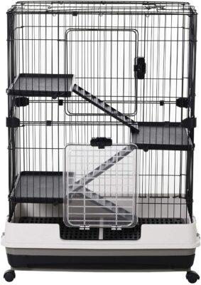 PawHut 4-Level Indoor Small Animal Cage