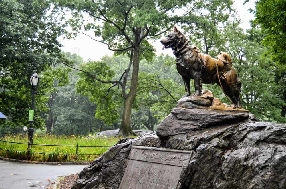 balto statue at central park