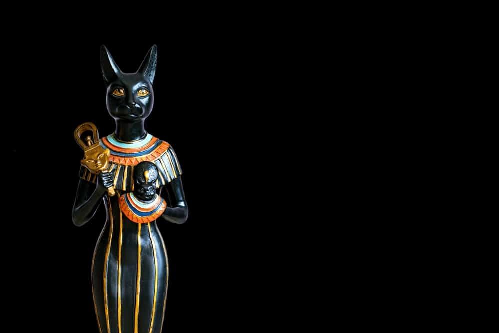 cat goddess Bastet sculpture