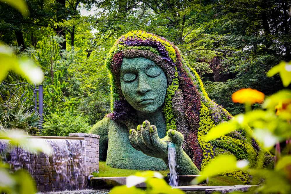 earth goddess shaped garden