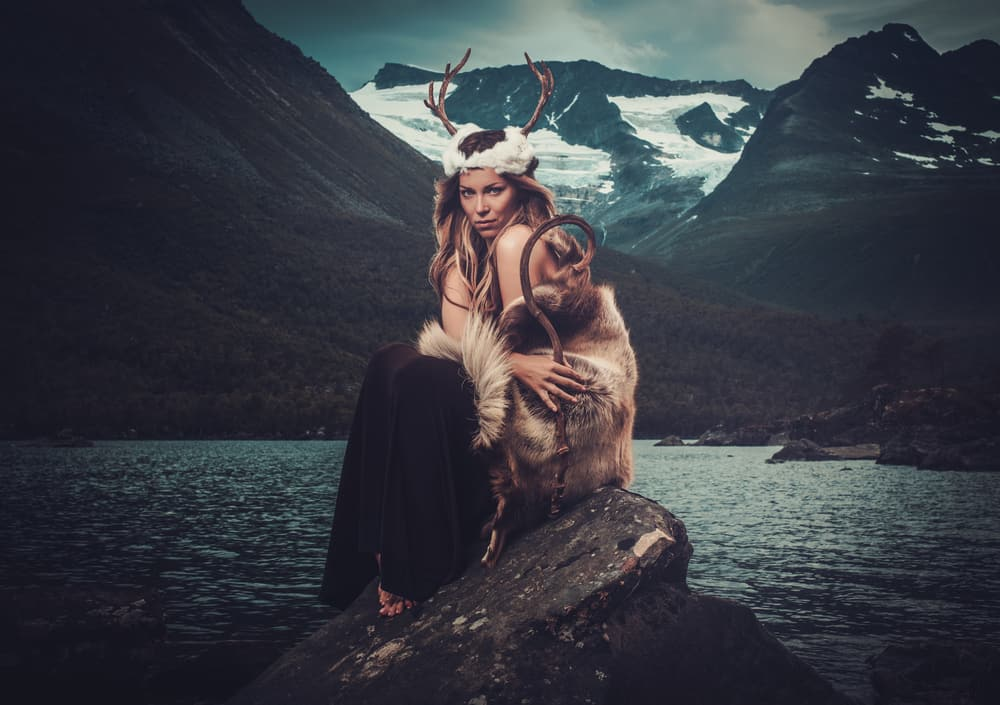nordic goddess by fjord